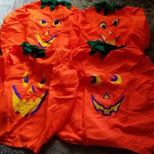 4 adult (one size fits all) pumpkin costumes